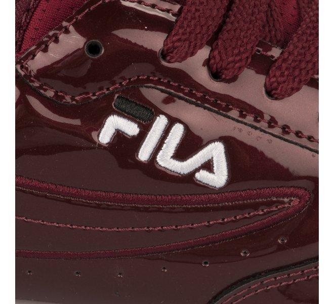 Baskets fille - FILA - Rouge bordeaux verni