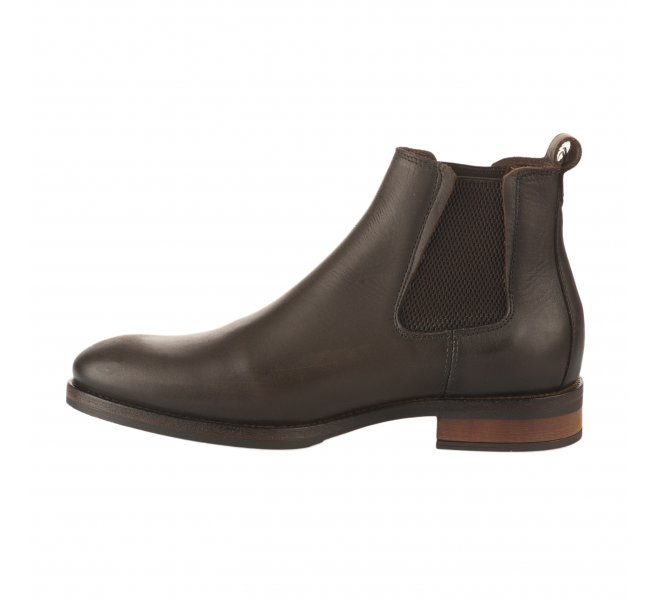 Boots homme - FIRST COLLECTIVE - Marron fonce