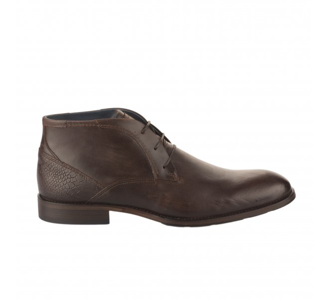 Chaussures à lacets homme - FIRST COLLECTIVE - Marron fonce