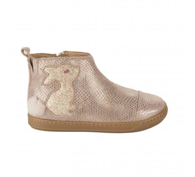 Boots fille - SHOO POM - Rose