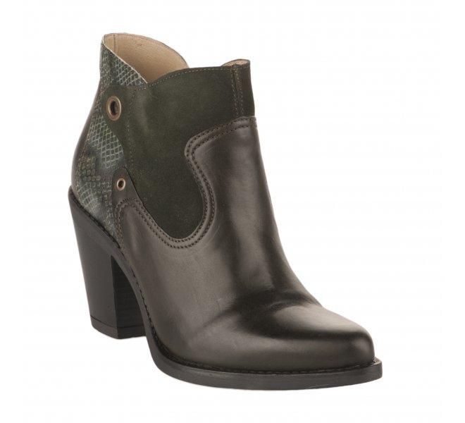 Boots femme - CASTA - Vert fonce