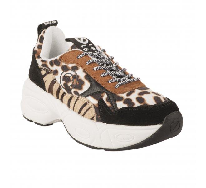 Baskets fille - NO NAME - Leopard