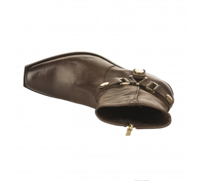 Boots femme - MIGLIO - Marron fonce