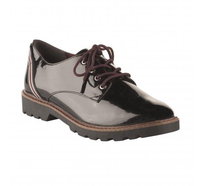 Tamaris Chaussures Noir Femme Verni Lacets À j3qL54AR