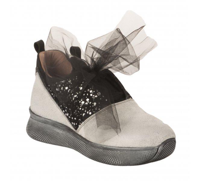Chaussures à lacets femme - PAPUCEI - Blanc casse