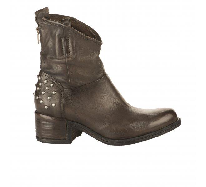 Boots femme - AS 98 - Marron fonce