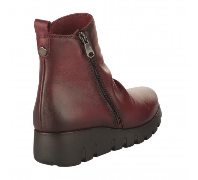 Boots femme - PAULA URBAN - Rouge