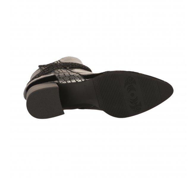 Boots femme - FUGITIVE - Noir verni