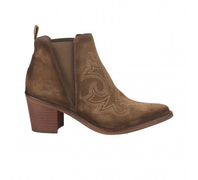 Boots femme - JHONNY BULLS - Taupe