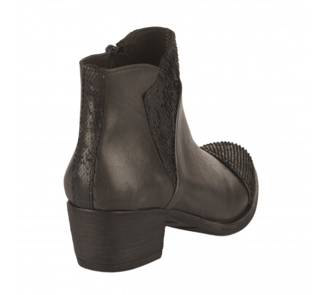 Boots femme - MIGLIO - Gris fonce