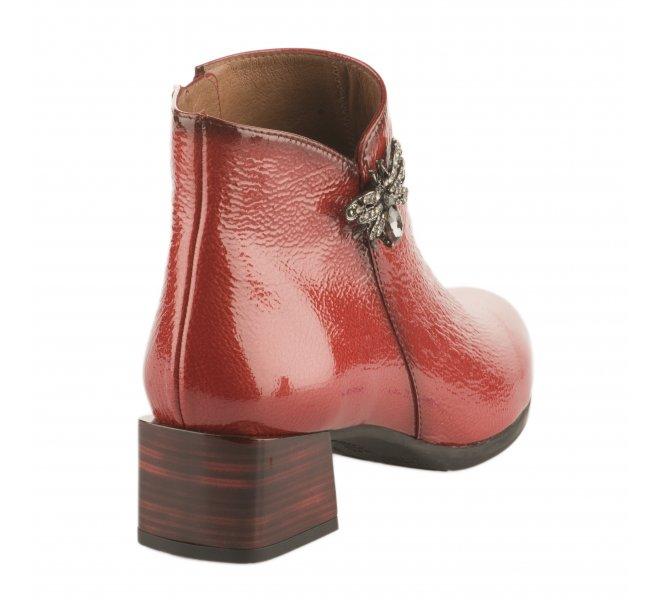 Boots femme - HISPANITAS - Rouge vernis