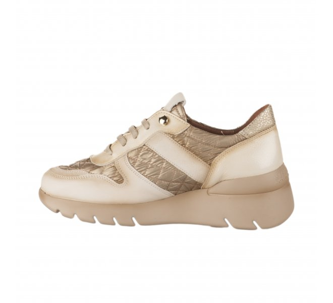 Baskets mode femme - HISPANITAS - Blanc casse