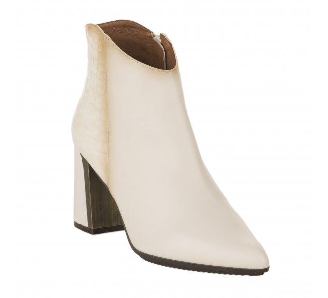 Boots femme - HISPANITAS - Blanc casse