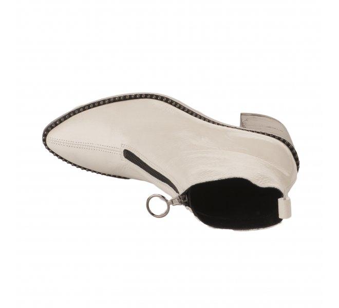 Boots femme - ALPE - Blanc verni