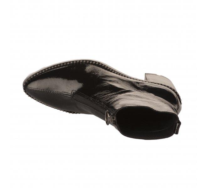 Boots femme - ALPE - Noir verni