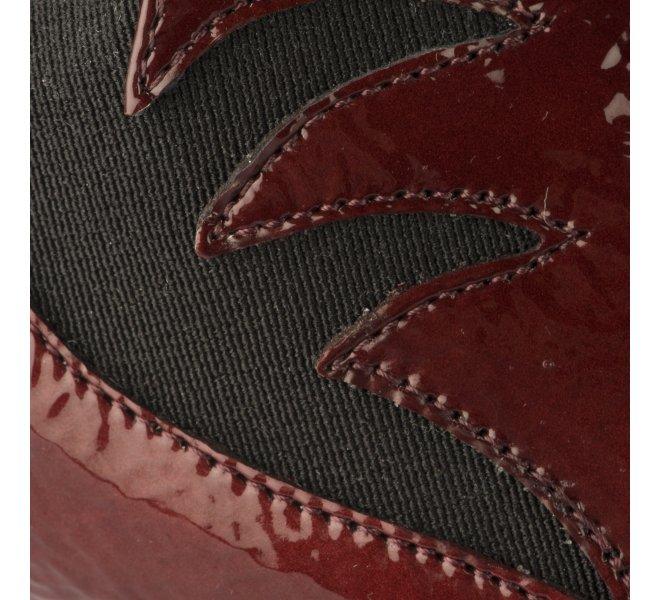 Chaussures de confort femme - PEDI GIRL - Rouge bordeaux