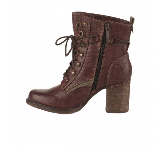 Bottines RougeBordeaux de Mustang Shoes, 42 43 44 45 Femme