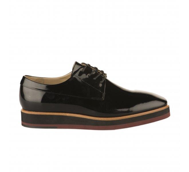 Chaussures à lacets femme - JB MARTIN - Noir verni