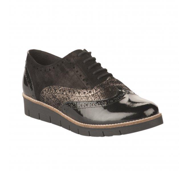 Chaussures à lacets femme - GEO REINO - Noir