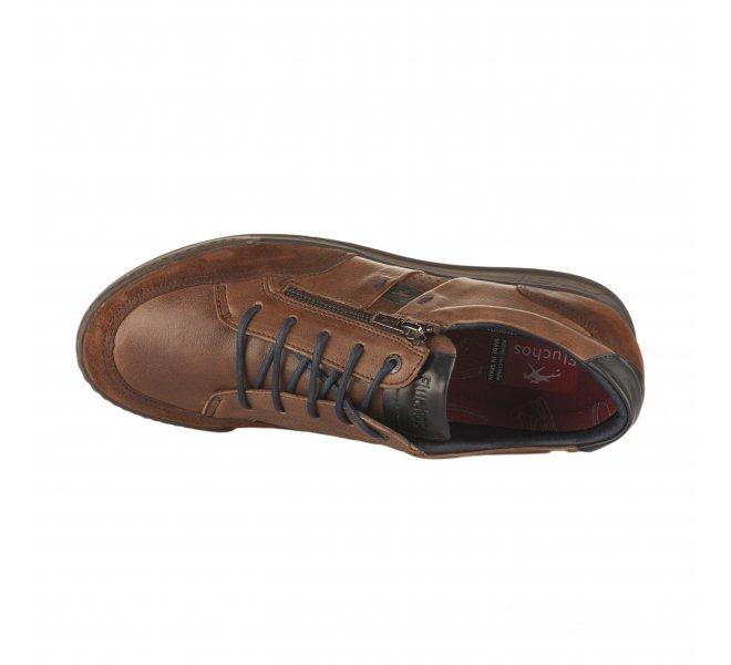 Chaussures à lacets homme - FLUCHOS - Marron fonce