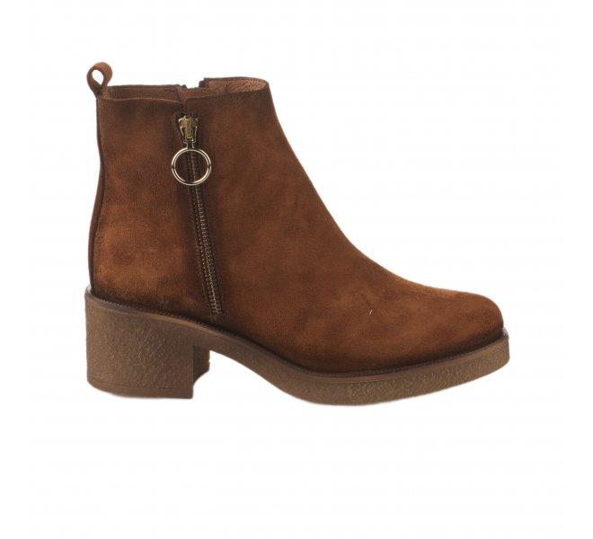 Boots femme - MIGLIO - Naturel