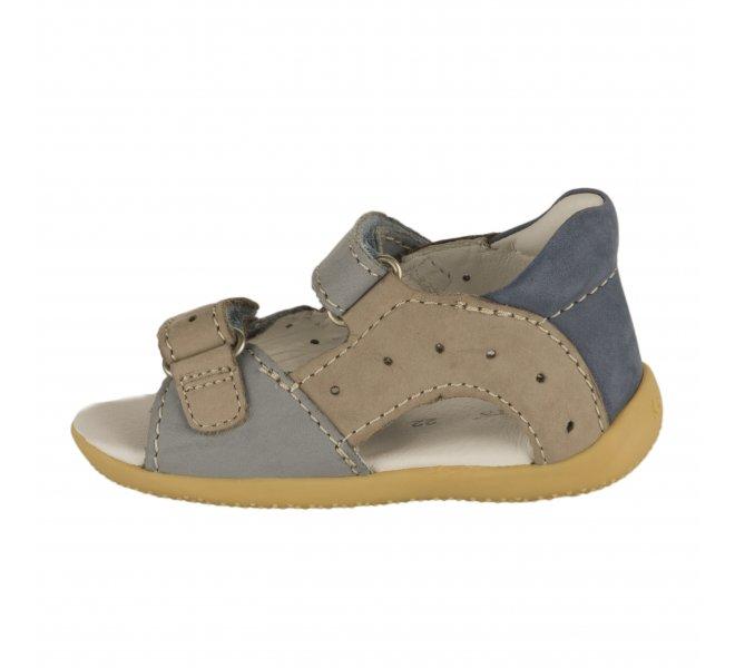 Nu-pieds garçon - KICKERS - Bleu gris
