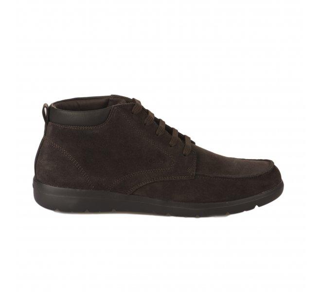 Idear De todos modos petróleo  Chaussures à lacets Geox marron fonce homme - U843QA 00022 C6024 - 69248