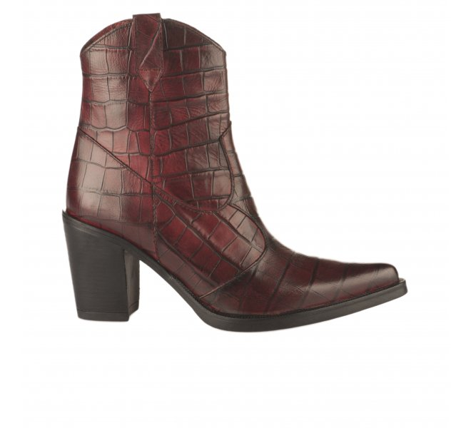 Boots femme - MIGLIO - Rouge