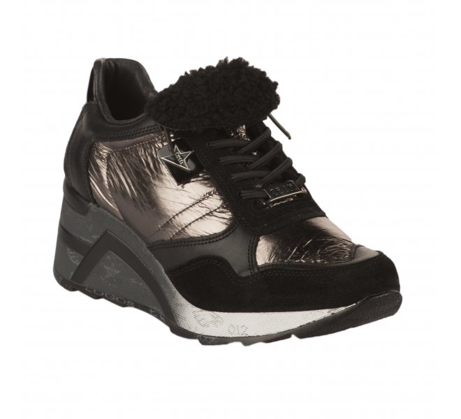 Baskets mode femme - CETTI - Noir