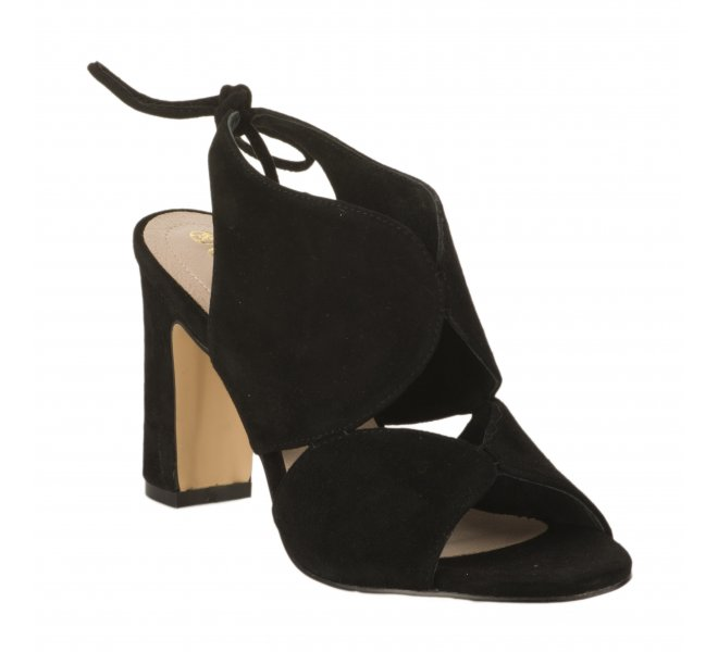 Nu pieds femme - CARMELA - Noir