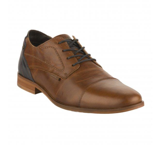 Chaussures à lacets homme - BULLBOXER - Marron cognac