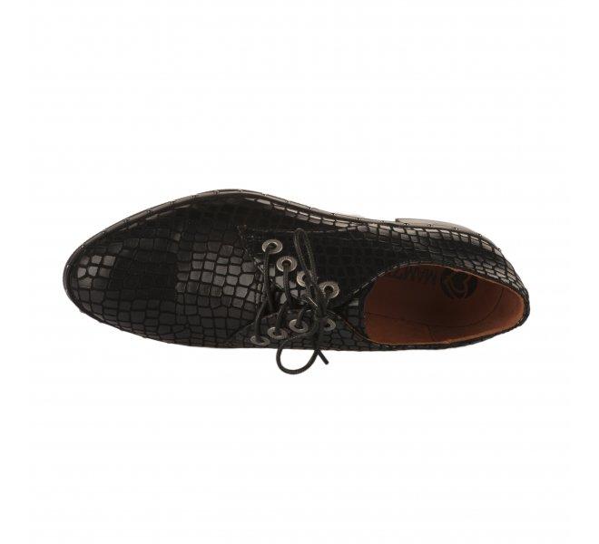 Chaussures à lacets femme - MAM'ZELLE - Noir