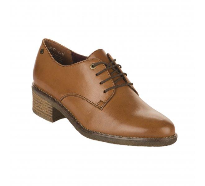 À Marron Tamaris Femme Chaussures 2wdh9ie Lacets Cognac XkiTOZwuP