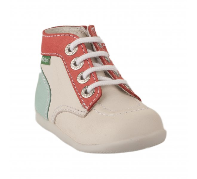 Bottines fille - KICKERS - Blanc ivoire