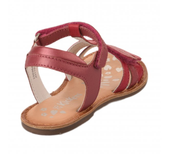 Nu-pieds fille - KICKERS - Rose fonce