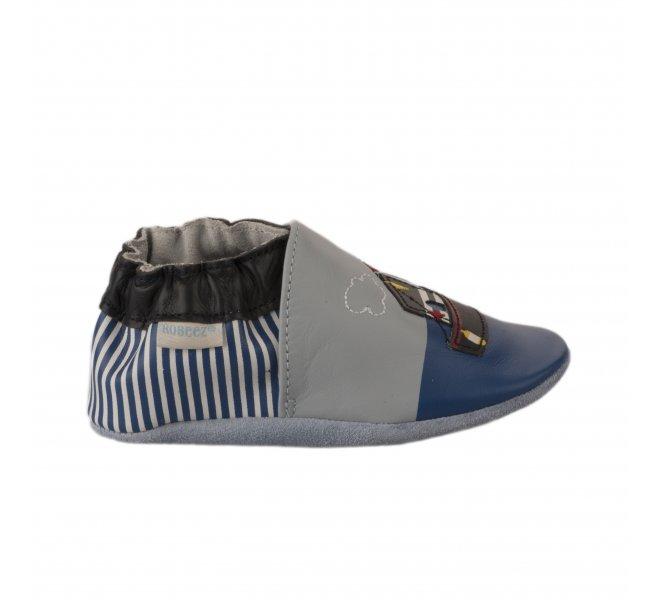 Chaussons garçon - ROBEEZ - Bleu marine