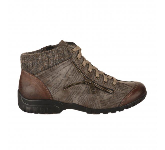 Boots femme - RIEKER - Camel