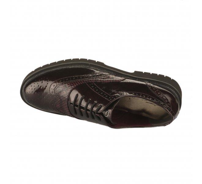 Chaussures à lacets femme - TAMARIS - Rouge bordeaux