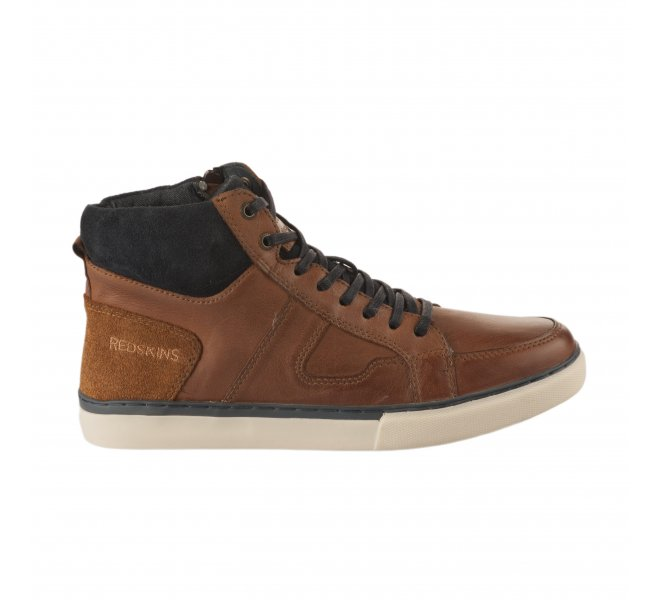 Baskets homme - REDSKINS - Marron cognac