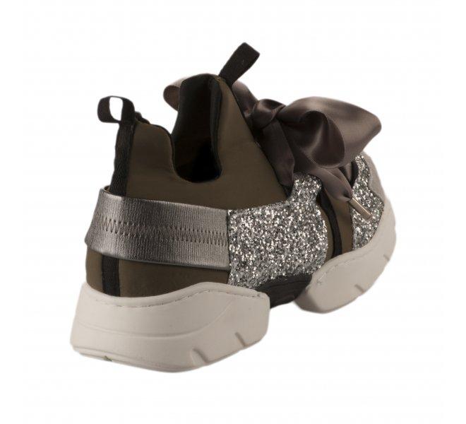 Baskets mode femme - MIGLIO - Kaki