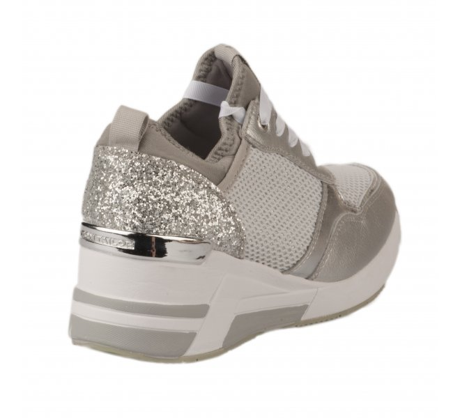 Baskets mode femme - TOM TAILOR - Gris argent