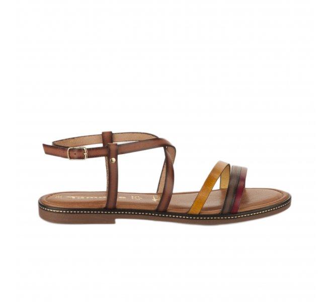 Nu pieds femme - TAMARIS - Marron cognac