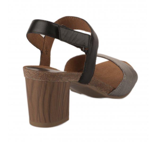 Nu pieds femme - CAPRICE - Noir