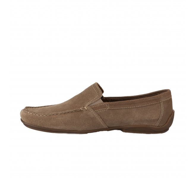 Mocassins homme - FIRST COLLECTIVE - Beige fonce