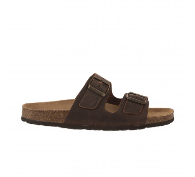 Mules homme - FIRST COLLECTIVE - Marron