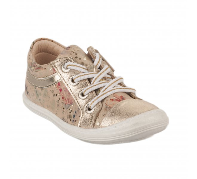 Baskets fille - BELLAMY - Beige dore