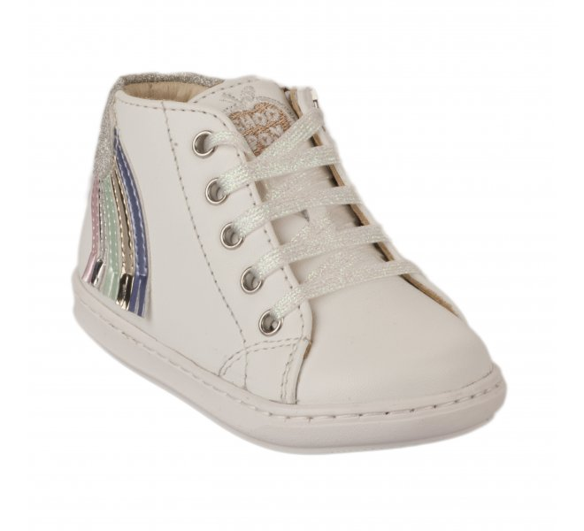 Bottines fille - SHOO POM - Blanc