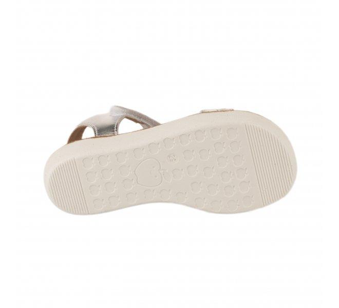 Nu-pieds fille - SHOO POM - Blanc argent