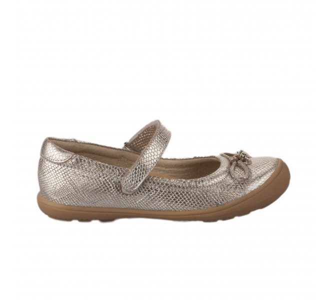 Ballerines fille - APPLES & PEARS  - Gris argent
