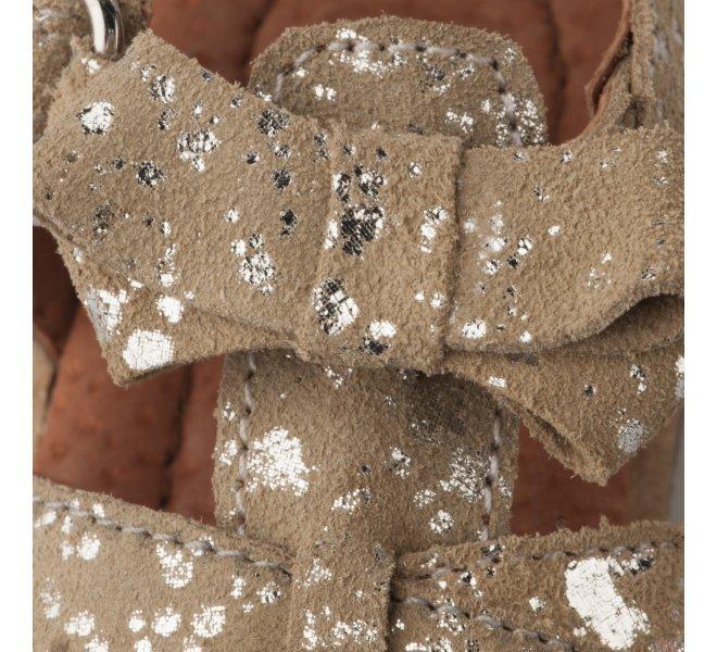 Bottines été fille - APPLES & PEARS - Beige dore